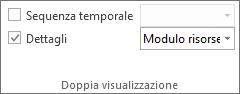 Immagine della casella di controllo Dettagli nella scheda Visualizza.