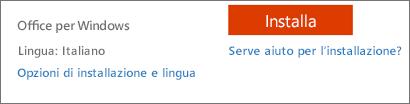 Opzioni di lingua e installazione per Office 365