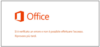Problema di accesso all'account Microsoft