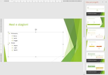 Presentazione con layout di sequenza temporale suggeriti