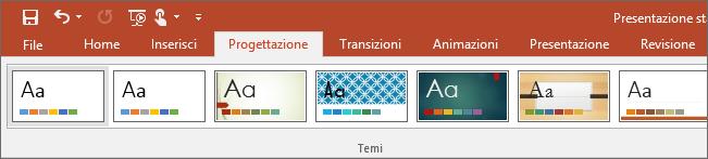 Mostra la scheda Progettazione sulla barra multifunzione di PowerPoint