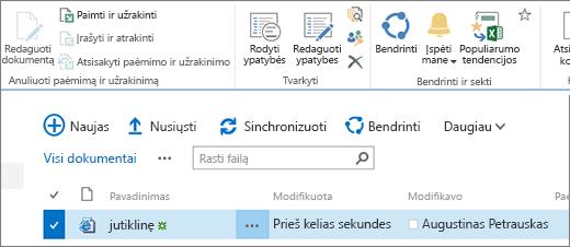 Modificare la sezione della barra multifunzione con un elemento selezionato