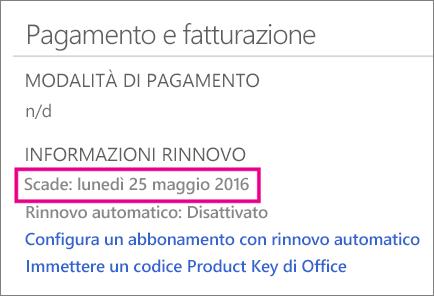Pagamento e fatturazione in OneDrive