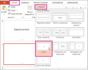 Riapplicare un layout modificato nella visualizzazione Schema diapositiva