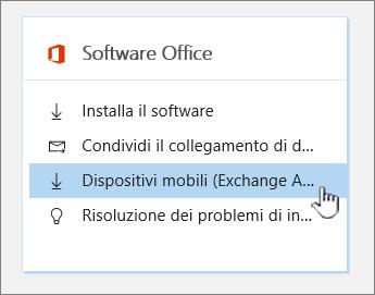 Impostazioni per il download del software di Office