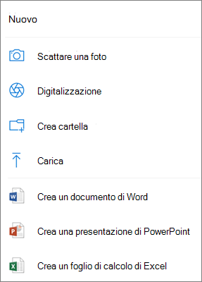 Carica in OneDrive