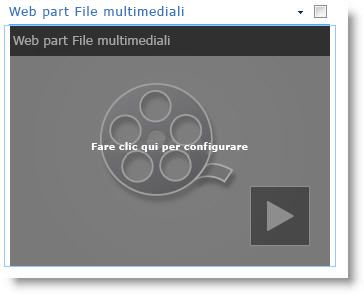 Web part File multimediali appena inserita