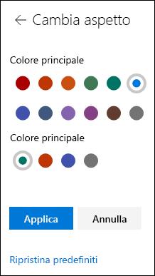Personalizzare il tema del sito di SharePoint