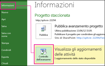 Immagine Verifica progresso del piano