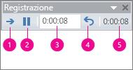 Mostra la casella degli intervalli di registrazione di PowerPoint