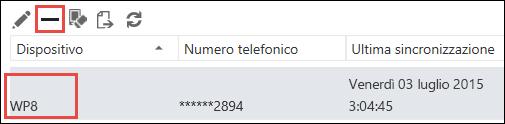 Rimuovere un telefono da Outlook Web App