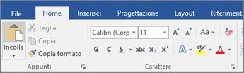 Fare clic sulla scheda File