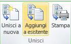 Composizione catalogo in una pubblicazione esistente