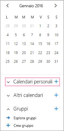 Aggiungere un nuovo calendario