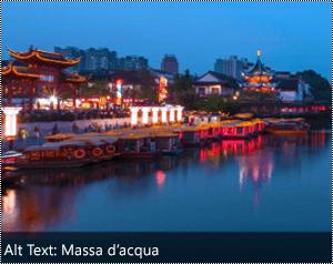 Immagine con testo alternativo generato automaticamente nel bordo inferiore dell'immagine in Word per Windows.