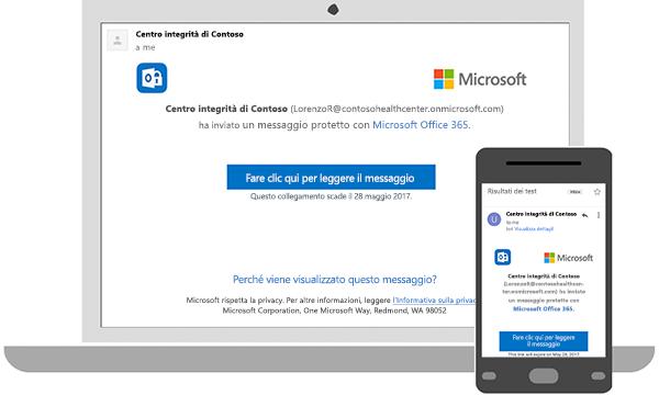 È possibile leggere messaggi crittografati sul desktop o sul telefono cellulare.