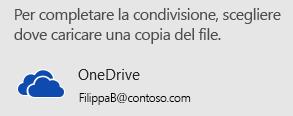 Se la presentazione non è stata ancora salvata in OneDrive o in SharePoint, PowerPoint richiede il salvataggio.