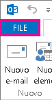 Scheda File di Outlook