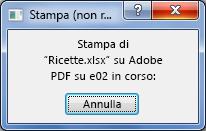 Quando si invia un documento alla stampante, viene visualizzata la finestra di dialogo Stampante.