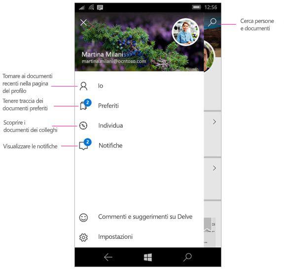Delve per Windows Mobile