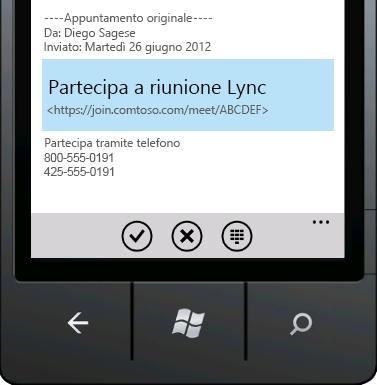 Partecipa a riunione Lync
