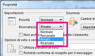 Accanto a Riservatezza fare clic su Privato.