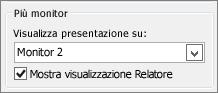 Opzioni di Monitor di PowerPoint 2010
