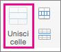 Nella scheda Layout selezionare Unisci celle