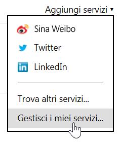 Gestisci i miei servizi