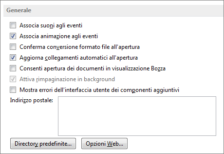 Word 2013 General options
