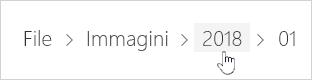 Selezione di una cartella di OneDrive
