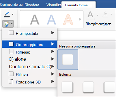 Nella scheda Formato fare clic su effetti.