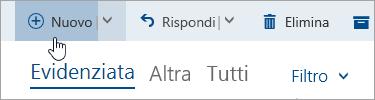 Screenshot del pulsante Scrivi un nuovo messaggio