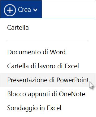 Creare una nuova presentazione