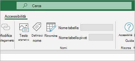 Mostra la barra multifunzione per l'accessibilità