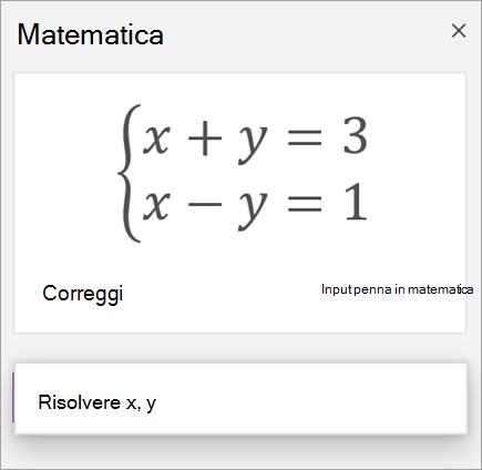 Equazione di sistema scritta tra parentesi quadre