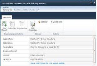 Nella pagina delle proprietà vengono visualizzati dettagli su un report in modalità di sola lettura
