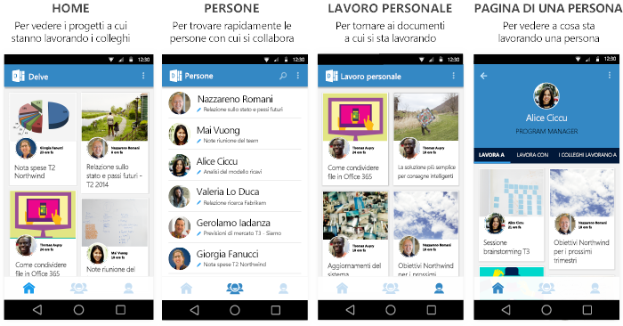 Schermate di Delve per Android