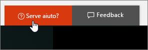 Immagine del pulsante Servono altre informazioni? nell'interfaccia di amministrazione.