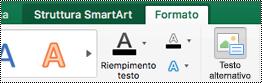 Pulsante testo alternativo per elementi grafici SmartArt in Excel per Mac