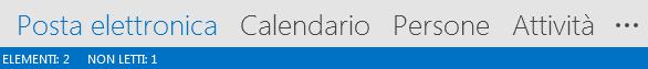 La scheda Persone è nella parte inferiore della schermata di Outlook.