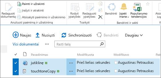Modificare parte della barra multifunzione con due elementi selezionati nell'elenco