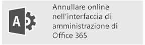 Eseguire l'annullamento online nell'interfaccia di amministrazione di Office 365