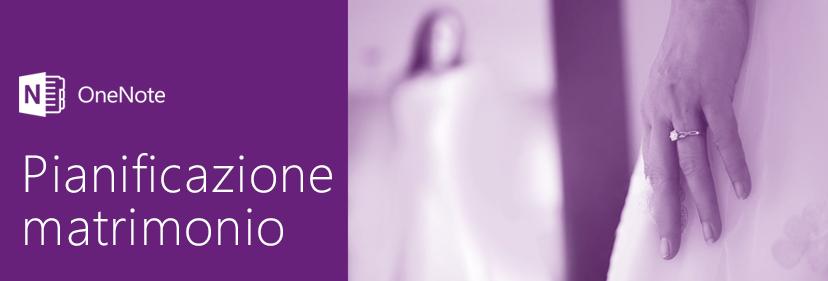 Pianificare un matrimonio con OneNote