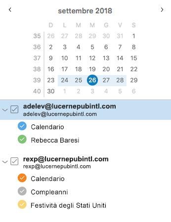 Barra laterale del calendario migliorata