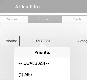 Impostare i filtri per un dashboard