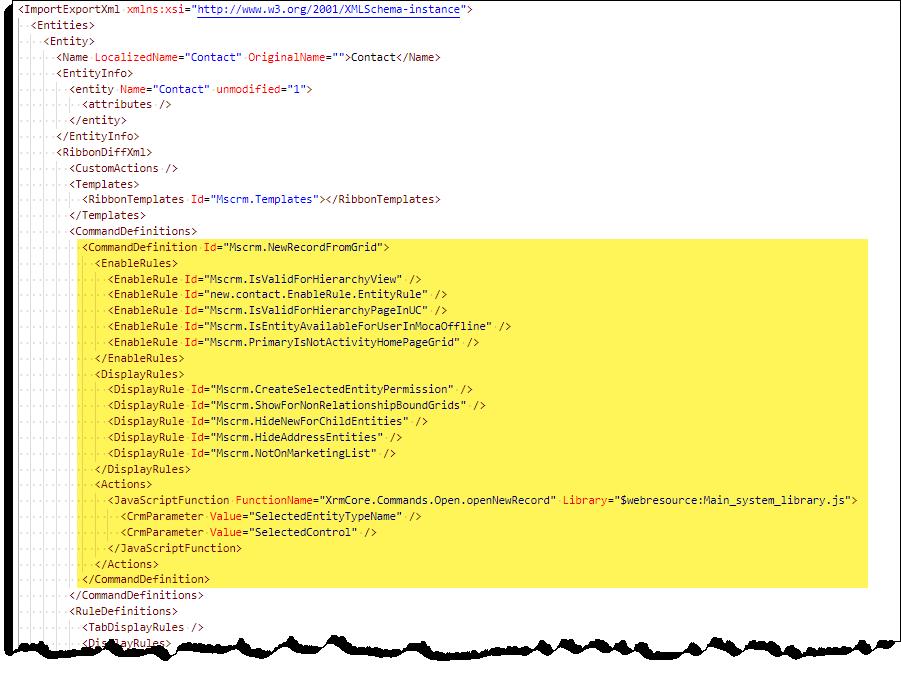 Command Checker - Contact New Command - XML