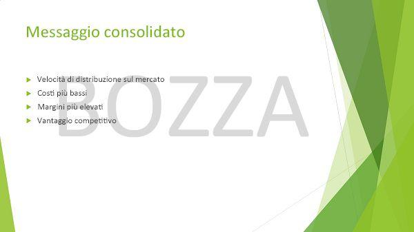 Esempio di diapositiva di PowerPoint con la filigrana BOZZA