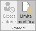 Opzioni di Proteggi documento