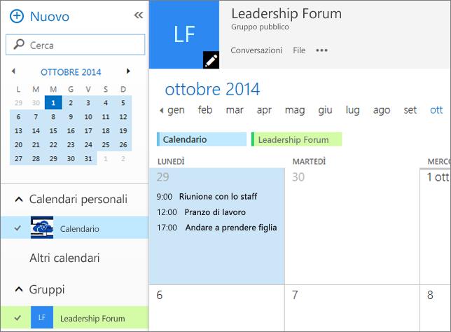 Calendario di gruppo